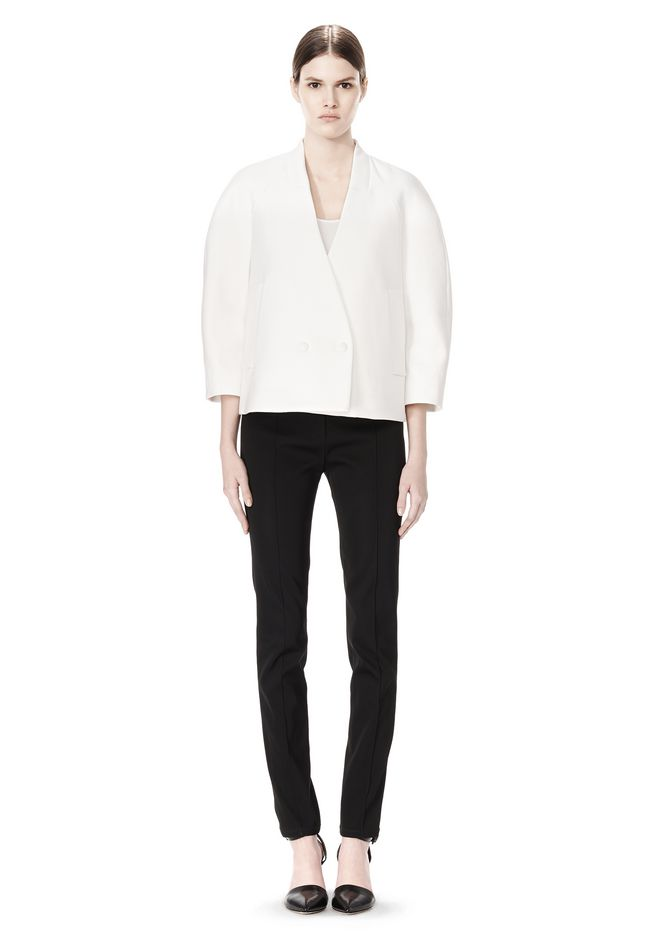 ALEXANDER WANG EXCLUSIVE CROPPED PEACOAT WITH SUSPENDED BACK JACKETS AND OUTERWEAR  Adult 12_n_f
