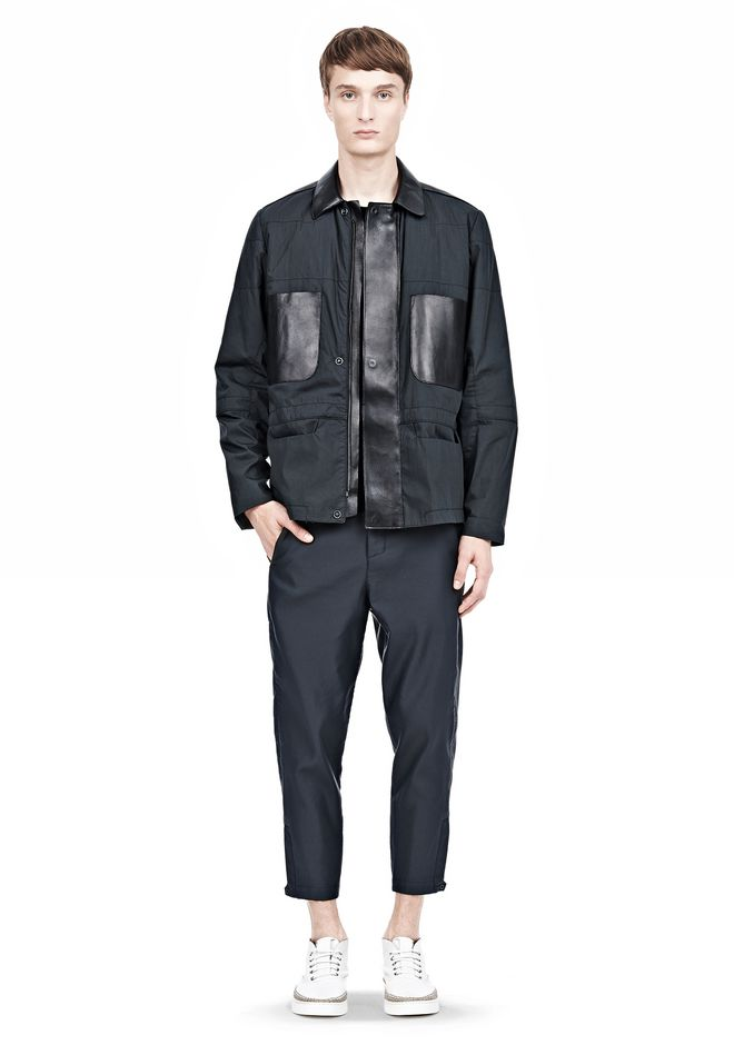 ALEXANDER WANG PADDED HUNTER JACKET WITH BONDED LEATHER COMBO Jacket Adult 12_n_f