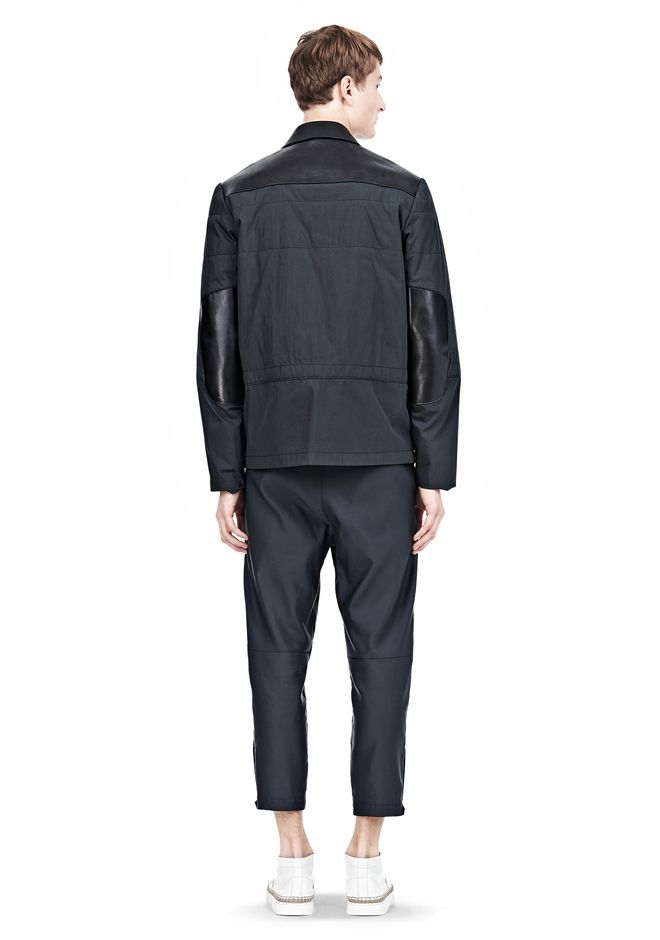 ALEXANDER WANG PADDED HUNTER JACKET WITH BONDED LEATHER COMBO Jacket Adult 12_n_r