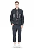 ALEXANDER WANG PADDED HUNTER JACKET WITH BONDED LEATHER COMBO Jacket Adult 8_n_f