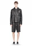 T by ALEXANDER WANG WASHED LEATHER HOODED JACKET Jacket Adult 8_n_f