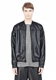 T by ALEXANDER WANG SHINY DOUBLE FACE KNIT BOMBER JACKET JACKETS AND OUTERWEAR  Adult 8_n_a