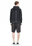 T by ALEXANDER WANG WAX COTTON INSIDE OUT HOODED JACKET JACKETS AND OUTERWEAR  Adult 8_n_r