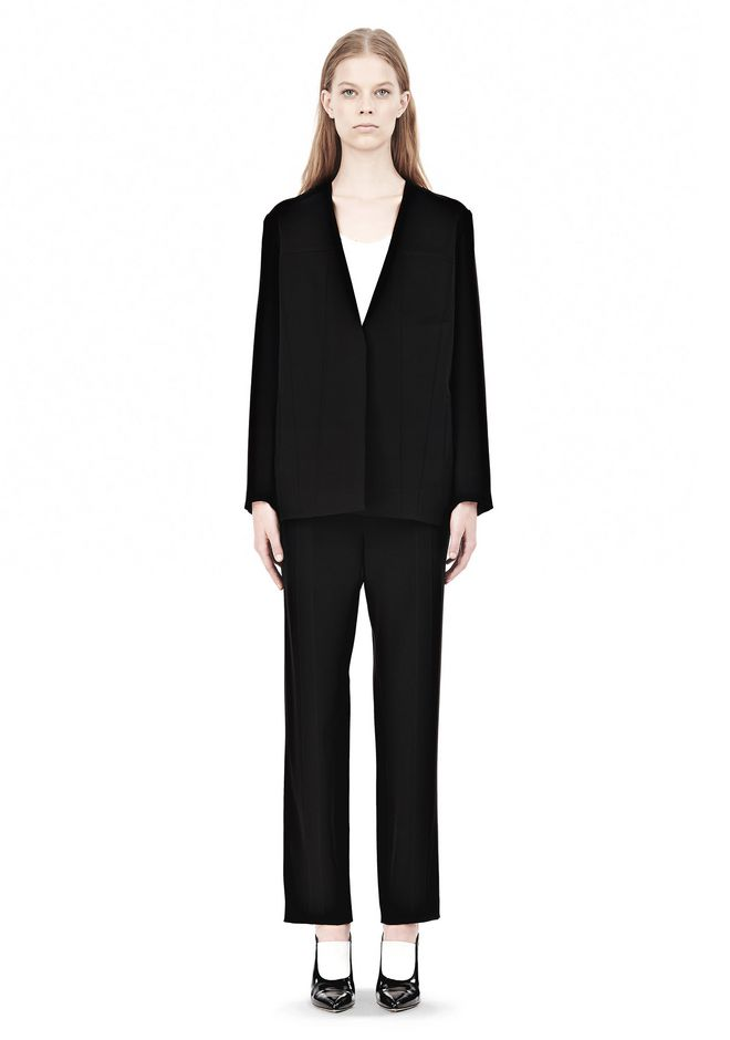 T by ALEXANDER WANG DRAPED SUITING COLLARLESS  BLAZER JACKETS AND OUTERWEAR  Adult 12_n_f