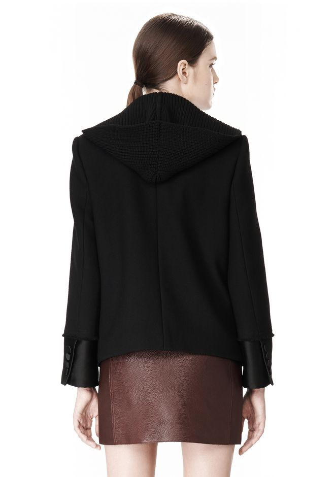 ALEXANDER WANG DOUBLE BREASTED PEA COAT WITH HOOD JACKETS AND OUTERWEAR  Adult 12_n_a