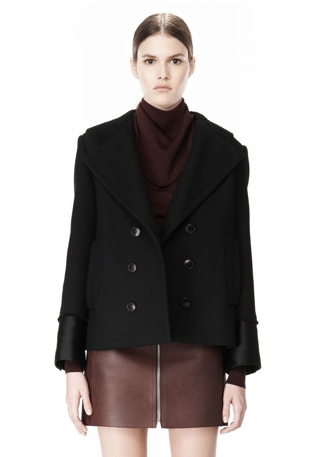 ALEXANDER WANG DOUBLE BREASTED PEA COAT WITH HOOD JACKETS AND OUTERWEAR  Adult 12_n_d