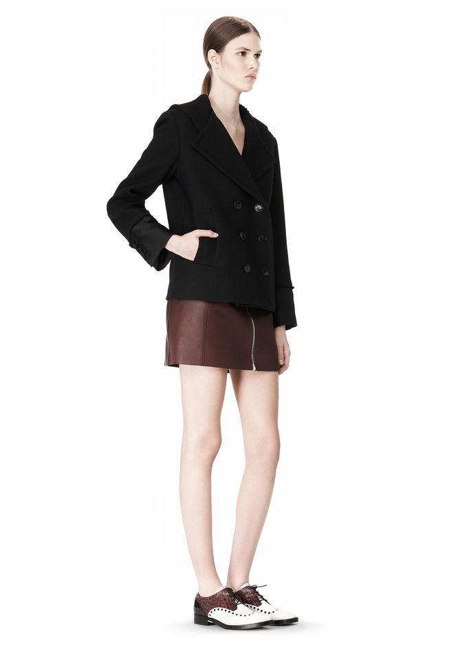 ALEXANDER WANG DOUBLE BREASTED PEA COAT WITH HOOD JACKETS AND OUTERWEAR  Adult 12_n_e