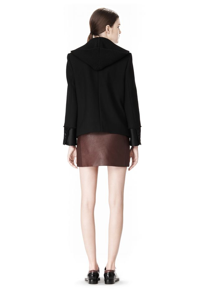 ALEXANDER WANG DOUBLE BREASTED PEA COAT WITH HOOD JACKETS AND OUTERWEAR  Adult 12_n_r