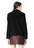 ALEXANDER WANG DOUBLE BREASTED PEA COAT WITH HOOD JACKETS AND OUTERWEAR  Adult 8_n_a