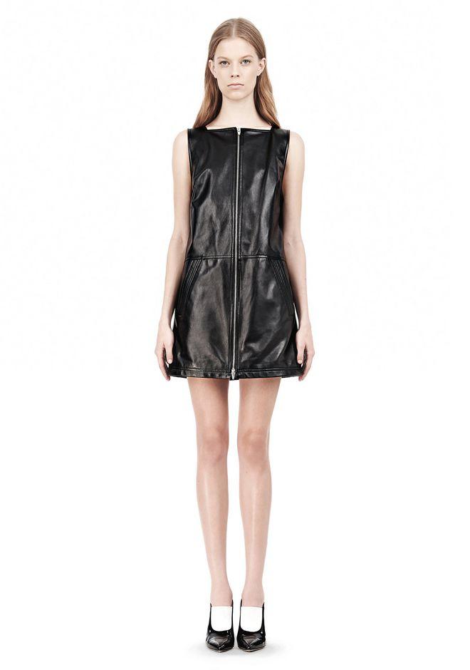 T by ALEXANDER WANG SQUARE NECK SHIFT DRESS Short Dress Adult 12_n_d