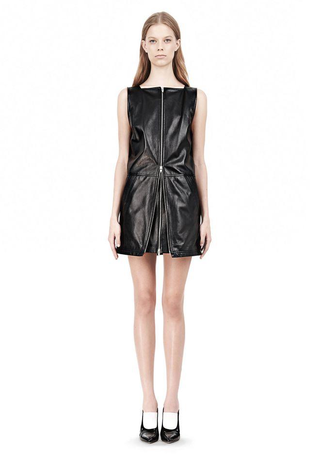 T by ALEXANDER WANG SQUARE NECK SHIFT DRESS Short Dress Adult 12_n_f