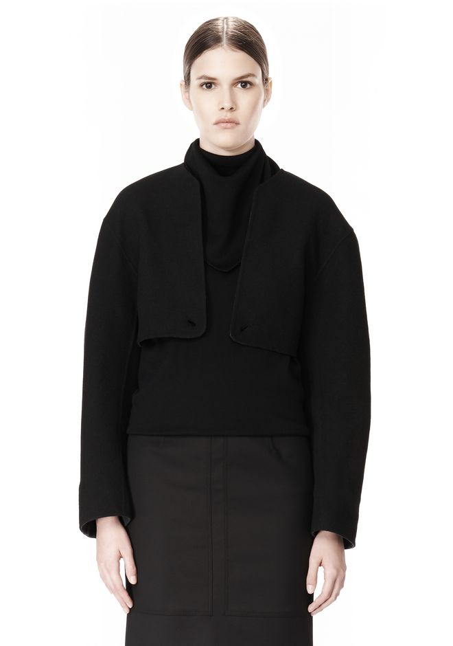 ALEXANDER WANG 2-IN-1 REVERSIBLE DOUBLE BREASTED COCOON COAT JACKETS AND OUTERWEAR  Adult 12_n_a