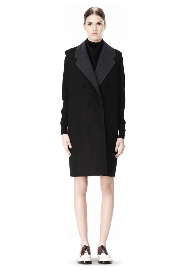 ALEXANDER WANG 2-IN-1 REVERSIBLE DOUBLE BREASTED COCOON COAT JACKETS AND OUTERWEAR  Adult 12_n_d