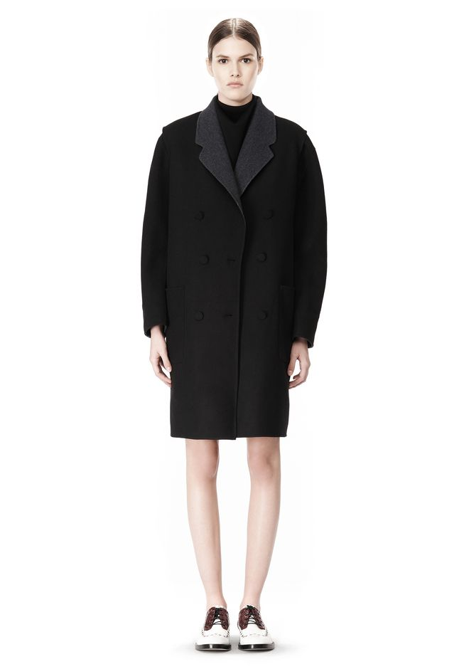 ALEXANDER WANG 2-IN-1 REVERSIBLE DOUBLE BREASTED COCOON COAT JACKETS AND OUTERWEAR  Adult 12_n_f