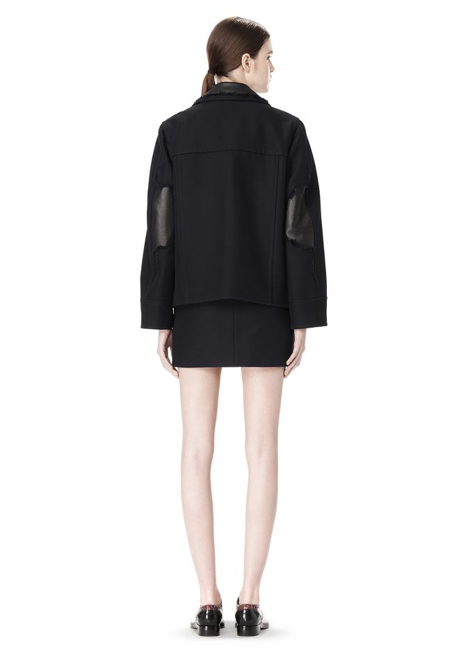 ALEXANDER WANG PEACOAT WITH DISTRESSED DETAIL JACKETS AND OUTERWEAR  Adult 12_n_r