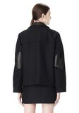 ALEXANDER WANG PEACOAT WITH DISTRESSED DETAIL JACKETS AND OUTERWEAR  Adult 8_n_a
