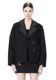 ALEXANDER WANG PEACOAT WITH DISTRESSED DETAIL JACKETS AND OUTERWEAR  Adult 8_n_d