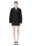 ALEXANDER WANG PEACOAT WITH DISTRESSED DETAIL JACKETS AND OUTERWEAR  Adult 8_n_f