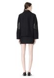 ALEXANDER WANG PEACOAT WITH DISTRESSED DETAIL JACKETS AND OUTERWEAR  Adult 8_n_r