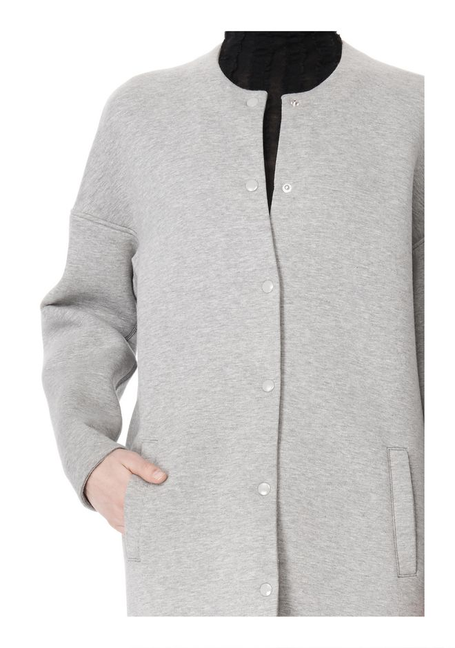 T by ALEXANDER WANG COTTON NEOPRENE OVERSIZED COAT JACKETS AND OUTERWEAR  Adult 12_n_a