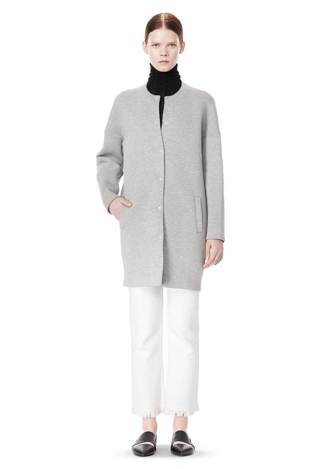 T by ALEXANDER WANG COTTON NEOPRENE OVERSIZED COAT JACKETS AND OUTERWEAR  Adult 12_n_f