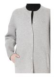 T by ALEXANDER WANG COTTON NEOPRENE OVERSIZED COAT JACKETS AND OUTERWEAR  Adult 8_n_a