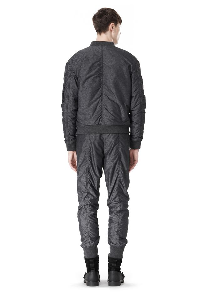 T by ALEXANDER WANG MELANGE DOBBY NYLON BOMBER JACKET JACKETS AND OUTERWEAR  Adult 12_n_r