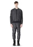 T by ALEXANDER WANG MELANGE DOBBY NYLON BOMBER JACKET JACKETS AND OUTERWEAR  Adult 8_n_f