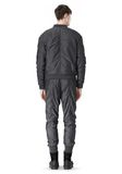 T by ALEXANDER WANG MELANGE DOBBY NYLON BOMBER JACKET JACKETS AND OUTERWEAR  Adult 8_n_r