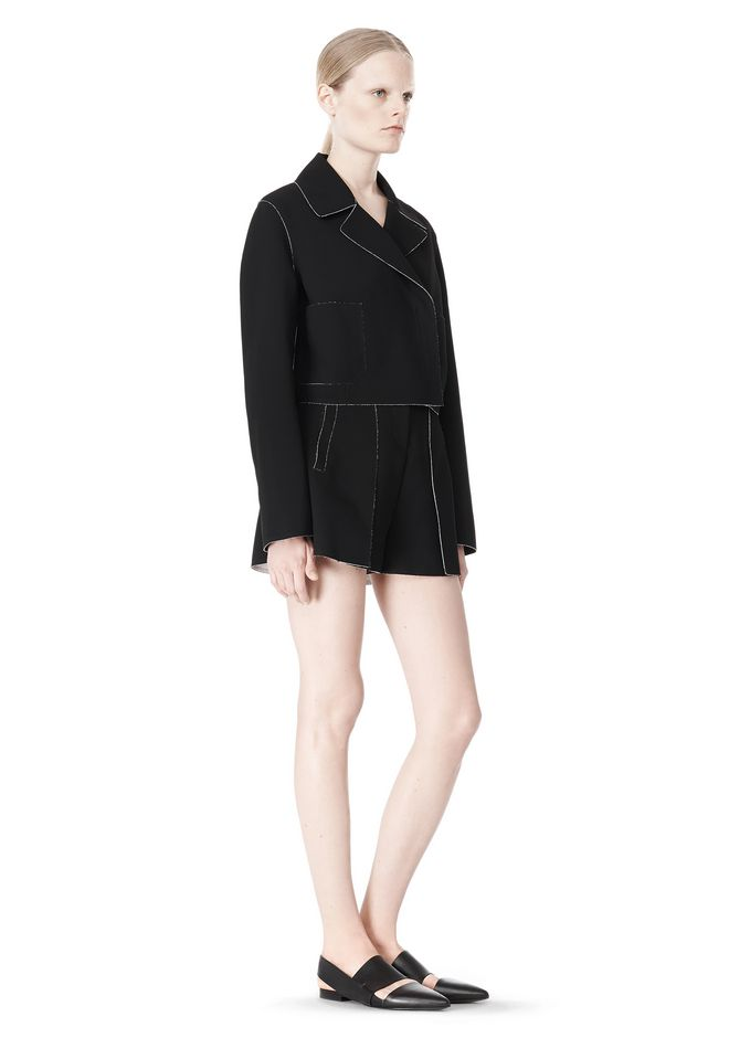 T by ALEXANDER WANG DOUBLE FACE BONDED TRENCH JACKET JACKETS AND OUTERWEAR  Adult 12_n_e