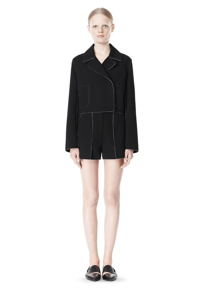 T by ALEXANDER WANG DOUBLE FACE BONDED TRENCH JACKET JACKETS AND OUTERWEAR  Adult 12_n_f
