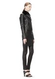 T by ALEXANDER WANG PEBBLED LEATHER MOTORCYCLE JACKET Jacket Adult 8_n_e