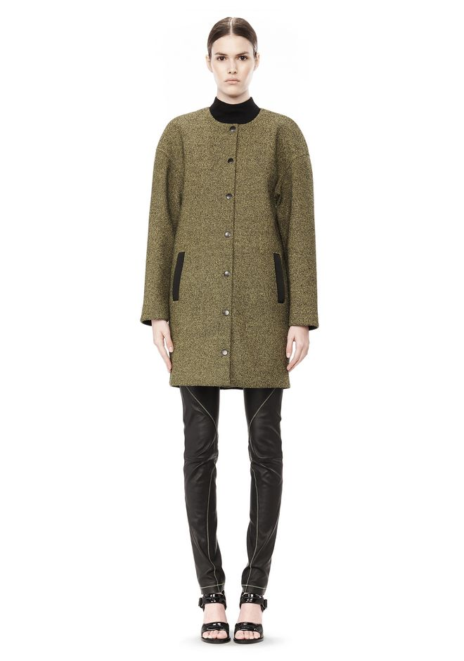 T by ALEXANDER WANG MESH BONDED NEOPRENE COLLARLESS COCOON COAT JACKETS AND OUTERWEAR  Adult 12_n_f