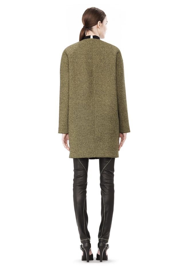 T by ALEXANDER WANG MESH BONDED NEOPRENE COLLARLESS COCOON COAT JACKETS AND OUTERWEAR  Adult 12_n_r