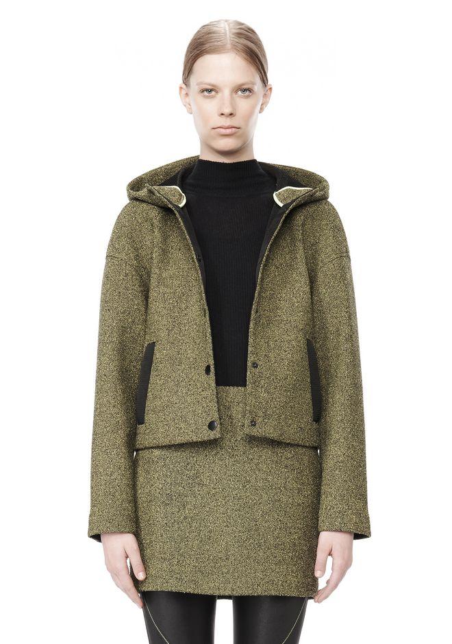 T by ALEXANDER WANG MESH BONDED NEOPRENE HOODED JACKET Jacket Adult 12_n_d