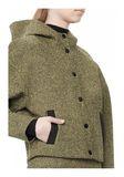 T by ALEXANDER WANG MESH BONDED NEOPRENE HOODED JACKET Jacket Adult 8_n_a