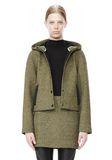 T by ALEXANDER WANG MESH BONDED NEOPRENE HOODED JACKET Jacket Adult 8_n_d