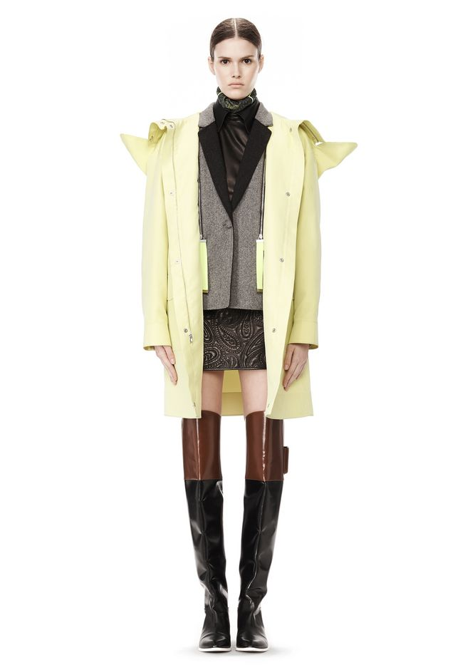 ALEXANDER WANG WELDED OVERSIZED PARKA WITH CONNECTED BLAZER PARKA Adult 12_n_r