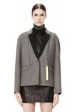 ALEXANDER WANG WELDED OVERSIZED PARKA WITH CONNECTED BLAZER PARKA Adult 8_n_d