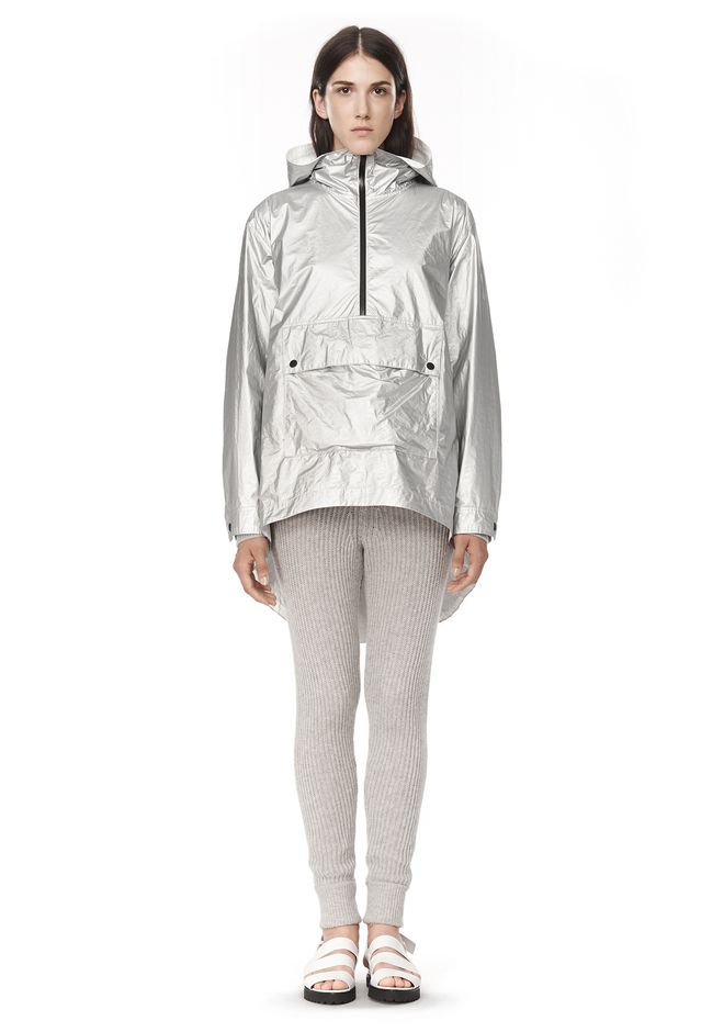 T by ALEXANDER WANG LAMINATED HOODED ANORAK JACKETS AND OUTERWEAR  Adult 12_n_f