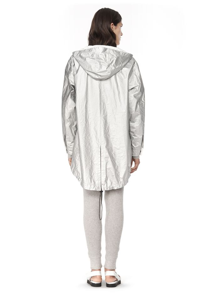 T by ALEXANDER WANG LAMINATED HOODED ANORAK JACKETS AND OUTERWEAR  Adult 12_n_r