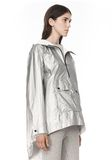 T by ALEXANDER WANG LAMINATED HOODED ANORAK JACKETS AND OUTERWEAR  Adult 8_n_a