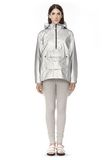 T by ALEXANDER WANG LAMINATED HOODED ANORAK JACKETS AND OUTERWEAR  Adult 8_n_f