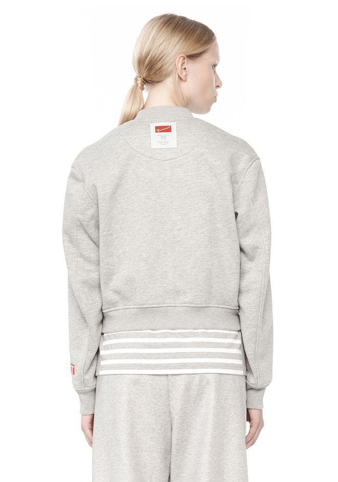 T by ALEXANDER WANG BONDED FLEECE BOMBER JACKET JACKETS AND OUTERWEAR  Adult 12_n_d