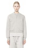 T by ALEXANDER WANG BONDED FLEECE BOMBER JACKET JACKETS AND OUTERWEAR  Adult 8_n_e