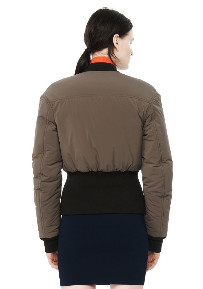 T by ALEXANDER WANG CROPPED PUFFER BOMBER JACKETS AND OUTERWEAR  Adult 12_n_d