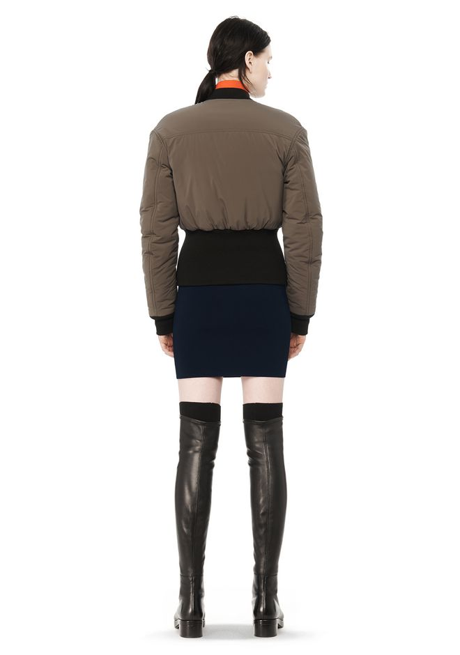 T by ALEXANDER WANG CROPPED PUFFER BOMBER JACKETS AND OUTERWEAR  Adult 12_n_r