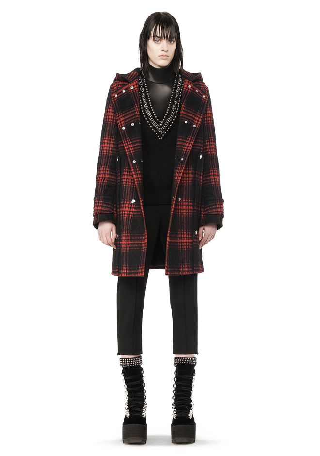 Alexander Wang RUNWAY BUFFALO PLAID DUFFLE COAT JACKETS AND ...