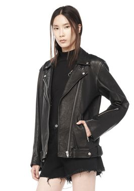 WAXY COW LEATHER BIKER JACKET