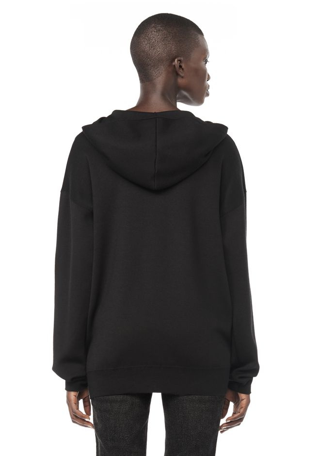 ALEXANDER WANG ZIP HOODIE WITH SEAMLESS POCKET JACKETS AND OUTERWEAR  Adult 12_n_d